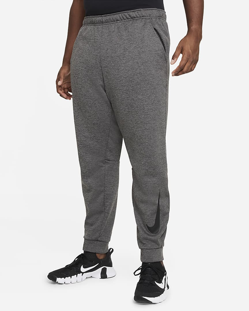 Nike Therma Men\'s Tapered Training Pants Charcoal Heather/Black