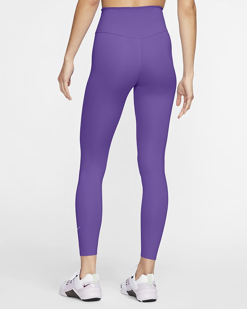 Nike One Luxe Women\'s Mid-Rise 7/8 Leggings Wild Berry/Clear