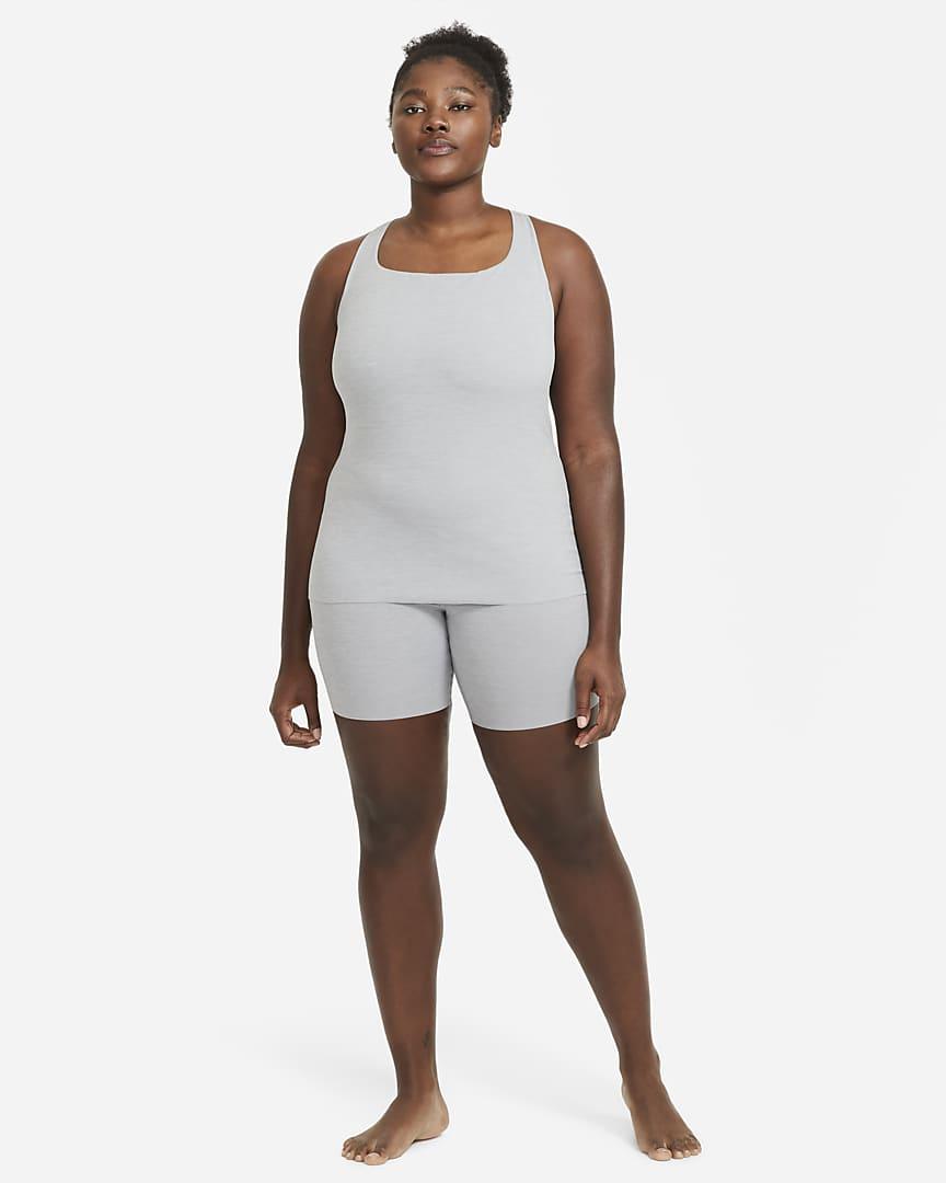Nike Yoga Luxe Women\'s Shorts (Plus Size) Particle Grey/Heather/Platinum Tint