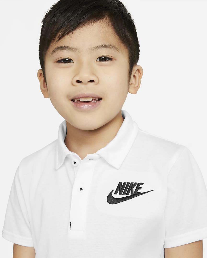 Nike Dri-FIT Little Kids\' Polo White
