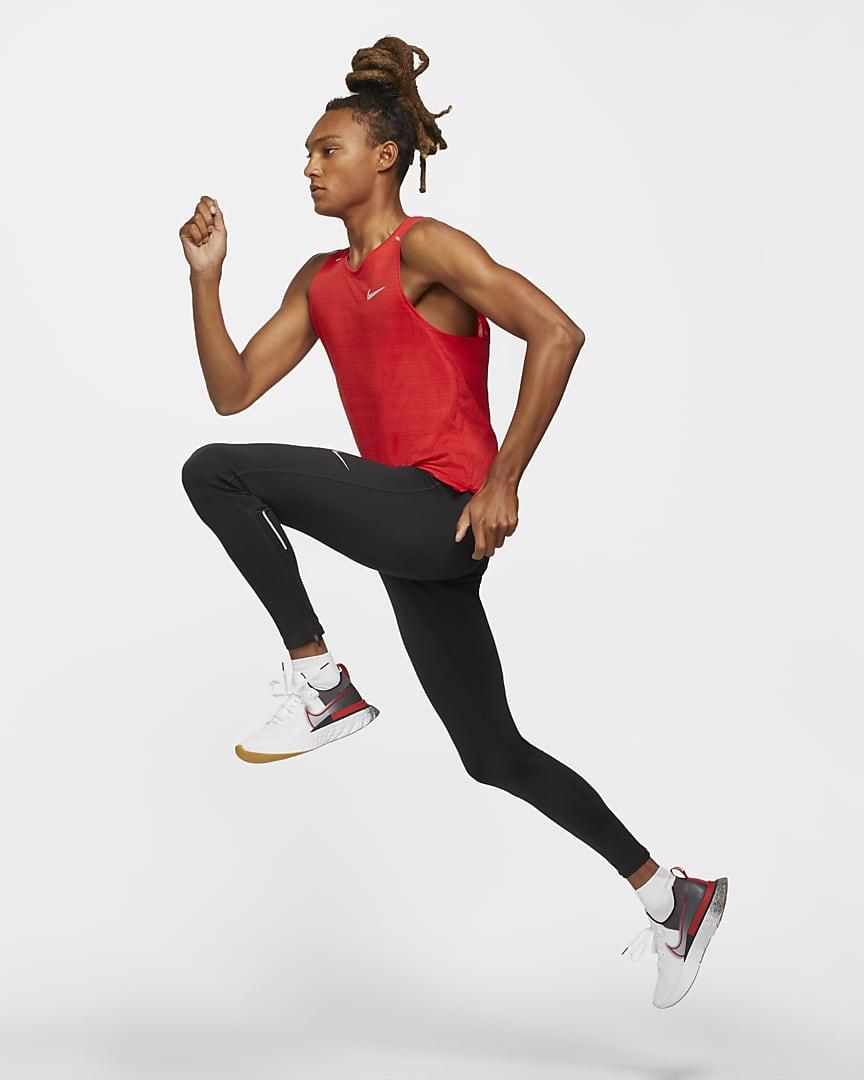 Nike Dri-FIT Miler Men\'s Running Tank University Red
