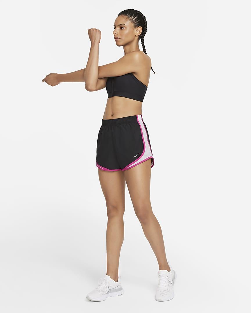 Nike Tempo Women\'s Running Shorts Black/White/Vivid Pink/Wolf Grey