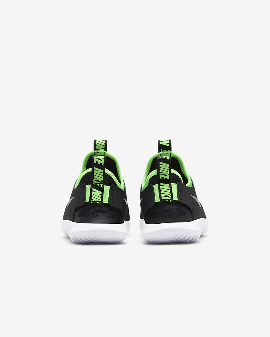 Nike Flex Runner Little Kids\' Shoes Black/Green Strike/Chrome