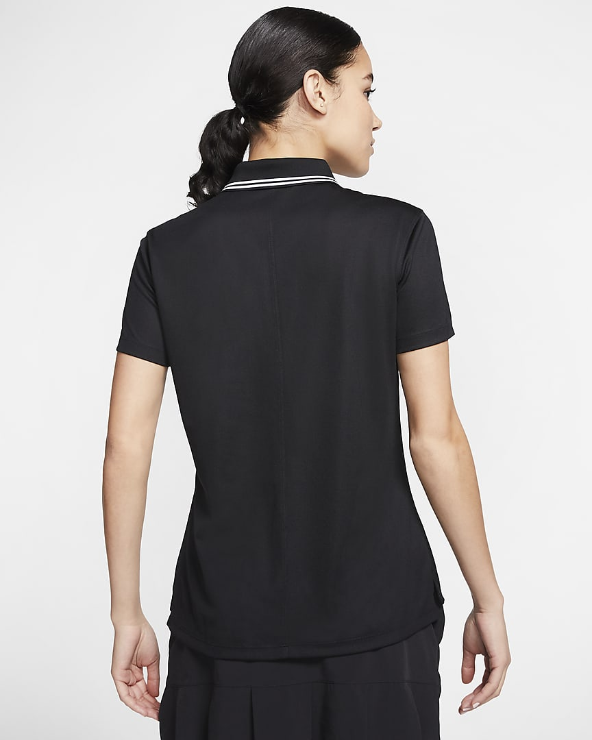 Nike Dri-FIT Victory Women's Golf Polo Black/White/White