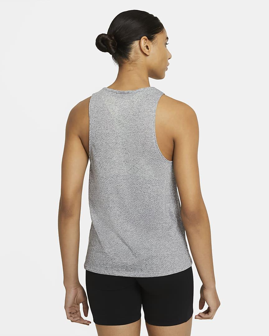 Nike City Sleek Women\'s Trail Running Tank Dark Grey Heather