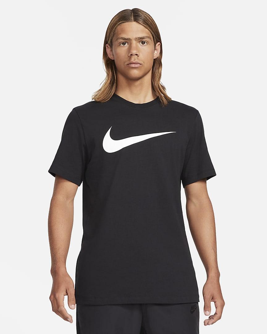 Nike Sportswear Swoosh Men\'s T-Shirt Black/White