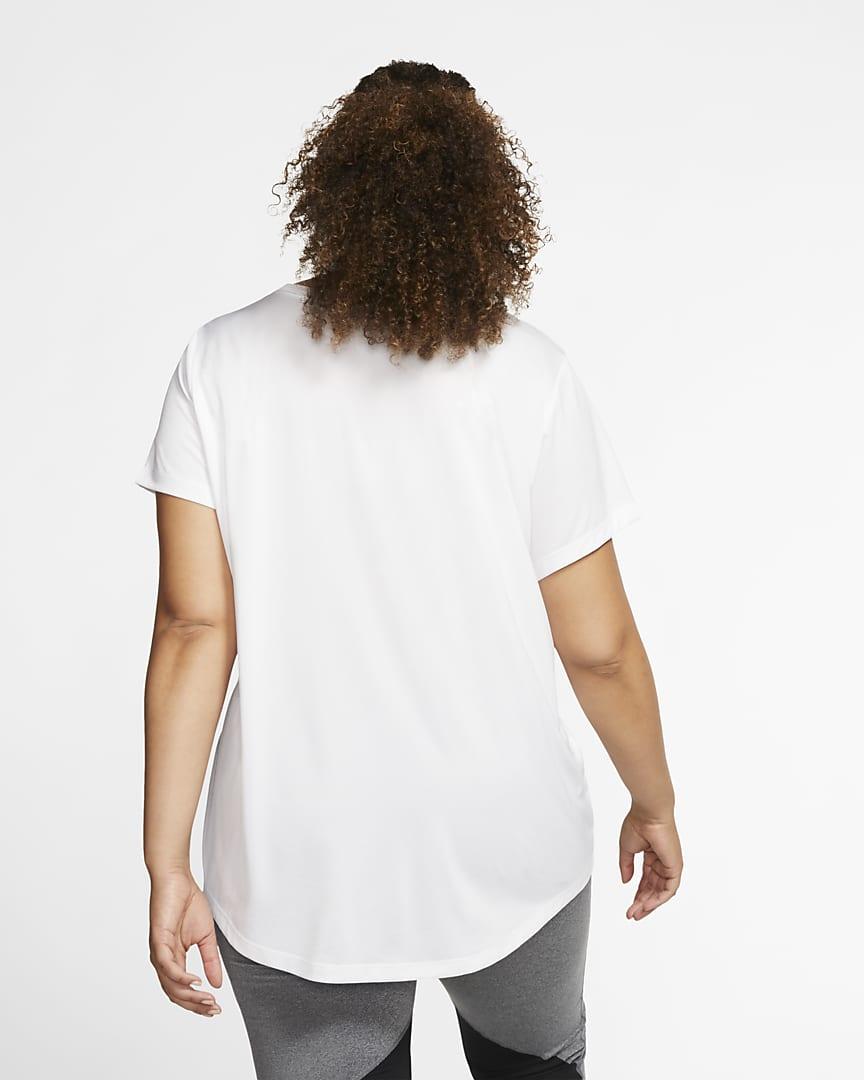 Nike Dri-FIT Legend Women\'s Training T-Shirt (Plus Size) White/Black