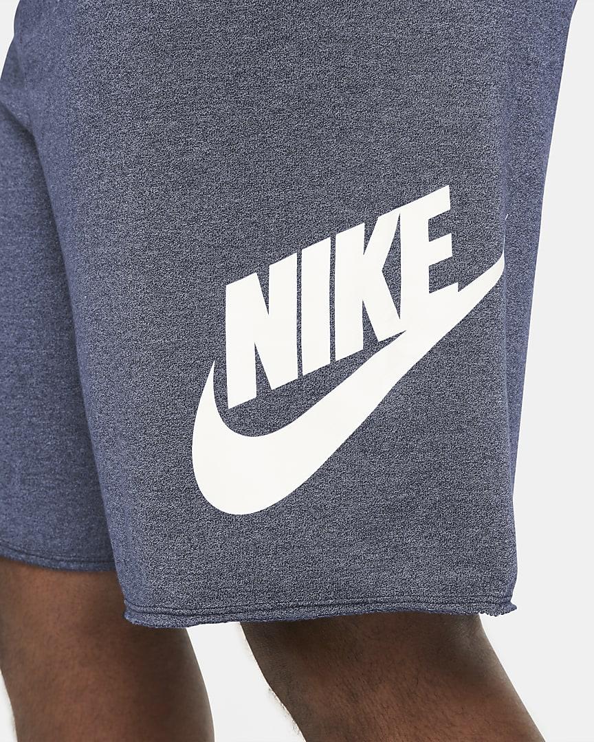 Nike Sportswear Alumni Men\'s French Terry Shorts Blue Void/Heather/Sail