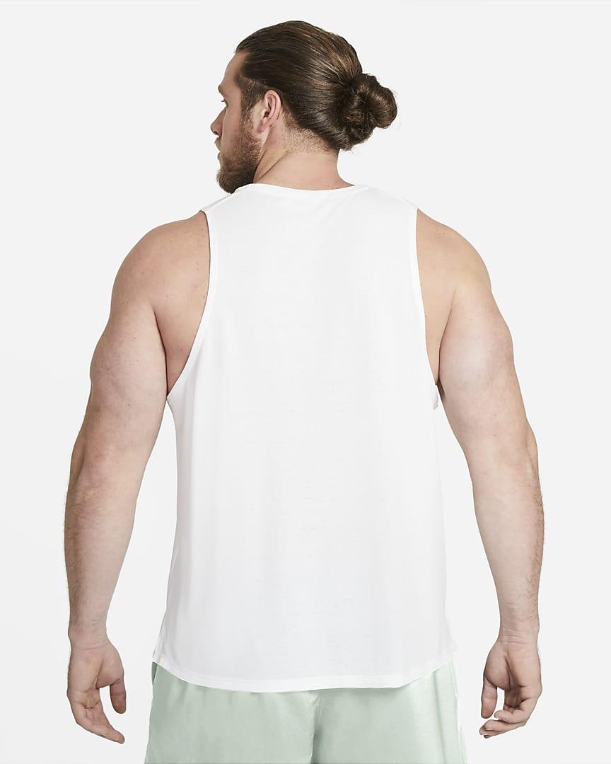 Nike Dri-FIT Miler Men\'s Running Tank White