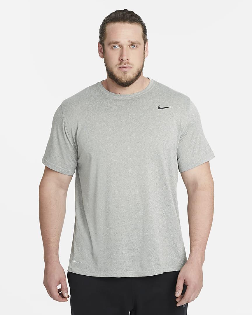 Nike Dri-FIT Legend Men\'s Training T-Shirt Dark Grey Heather/Black/Black