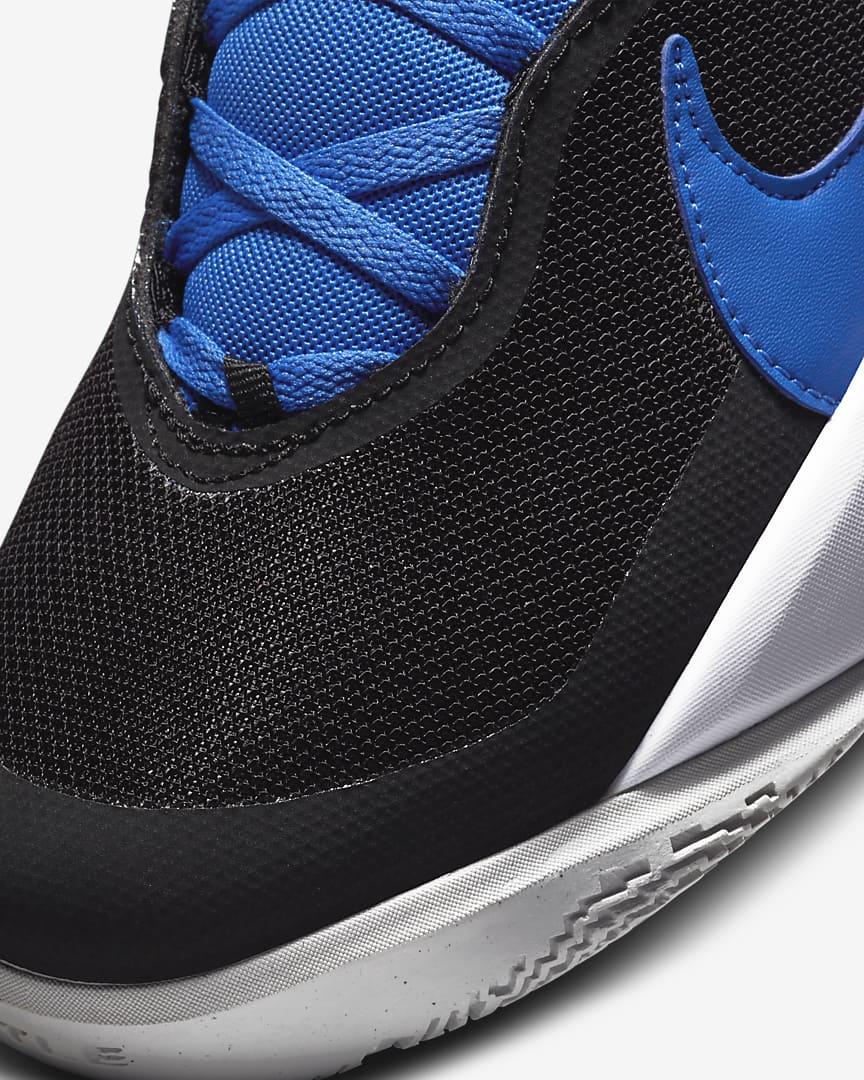 Nike Team Hustle D 10 Big Kids\' Basketball Shoes Black/Photon Dust/White/Game Royal
