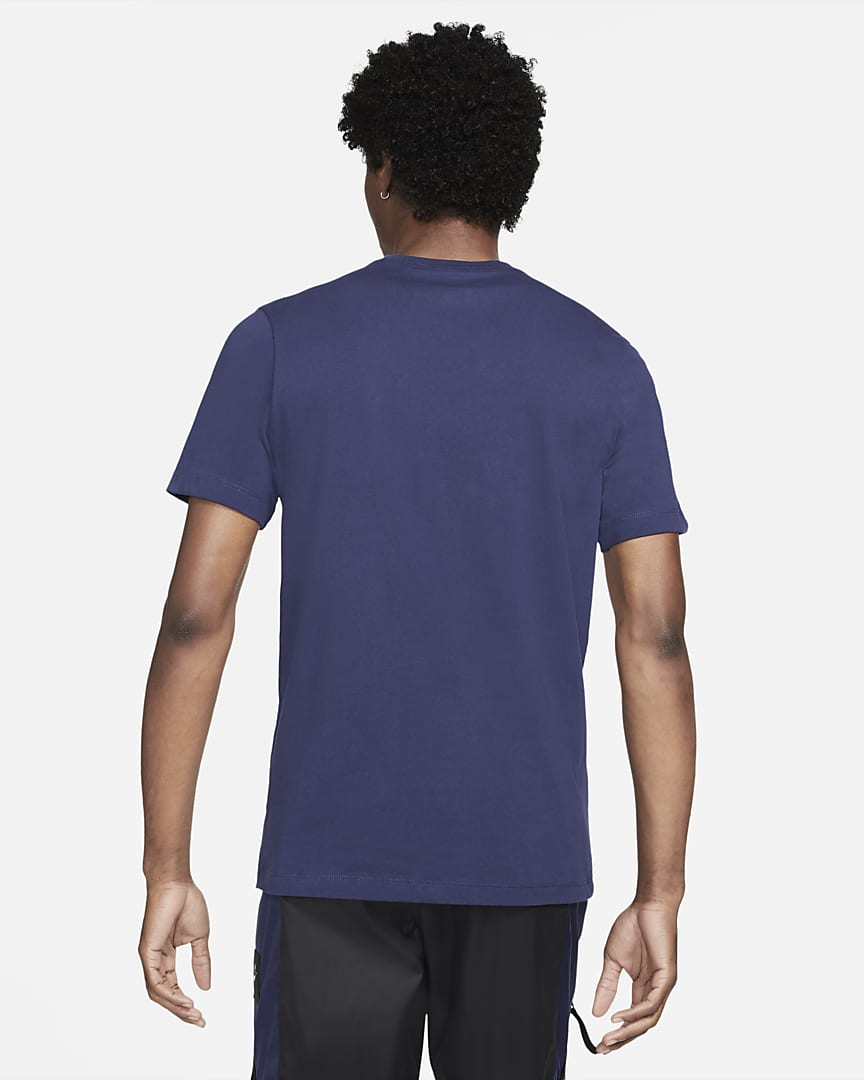 Nike Sportswear Swoosh Men\'s T-Shirt Midnight Navy/White