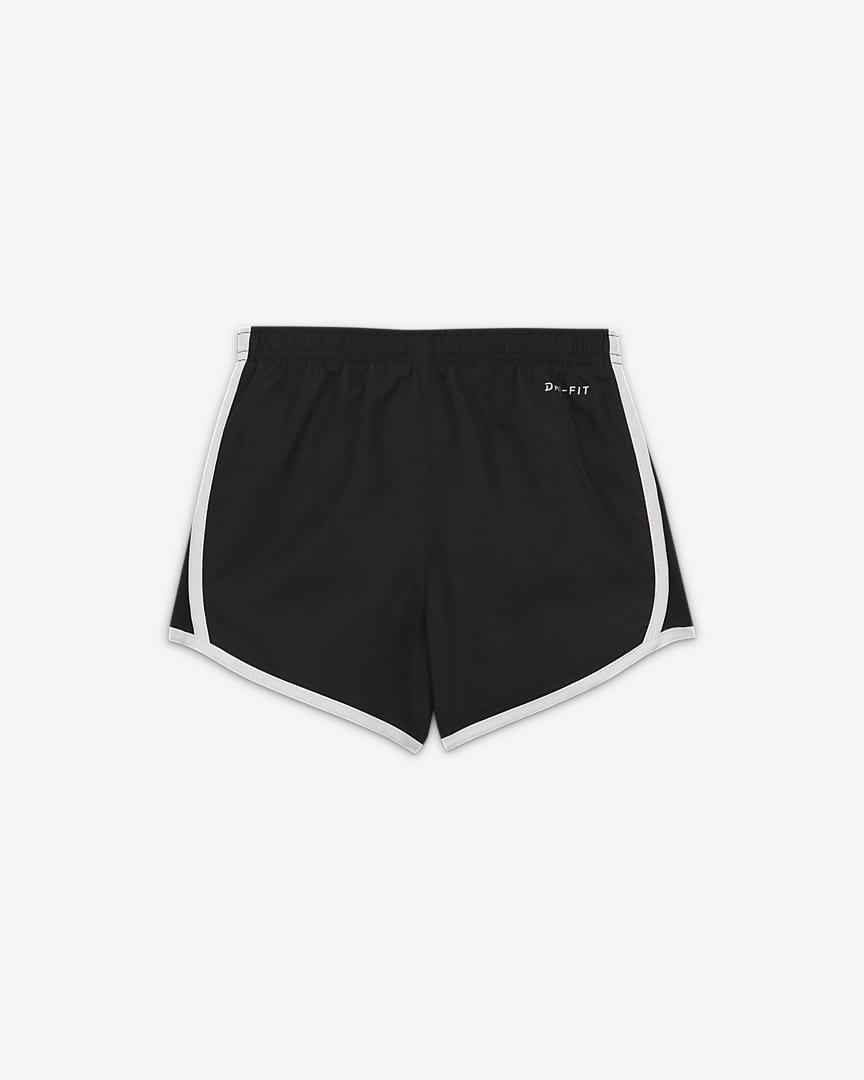 Nike Dri-FIT Tempo Little Kids\' Shorts Black/White