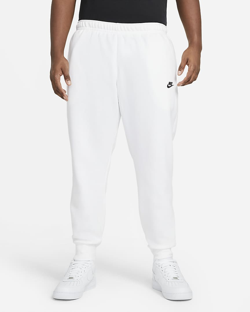 Nike Sportswear Club Fleece Joggers White/White/Black