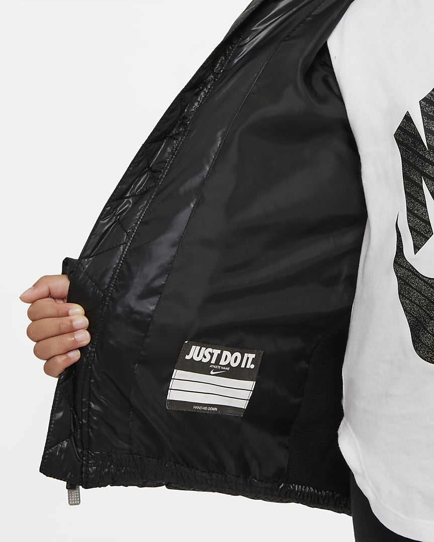 Nike Little Kids\' Puffer Jacket Black