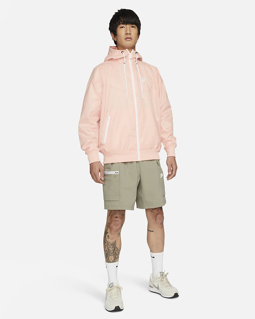 Nike Sportswear Windrunner Men\'s Hooded Jacket Arctic Orange/White