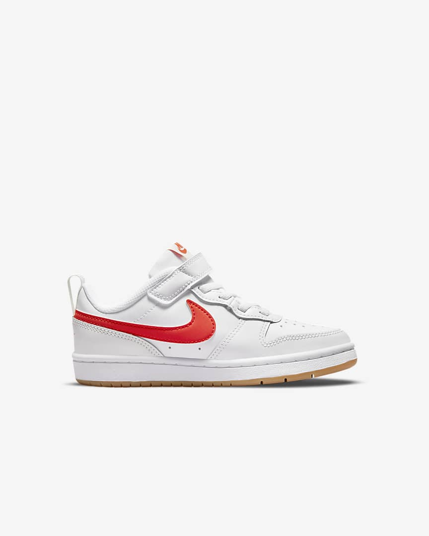 Nike Court Borough Low 2 Little Kids\' Shoes White/Summit White/Sail/Orange
