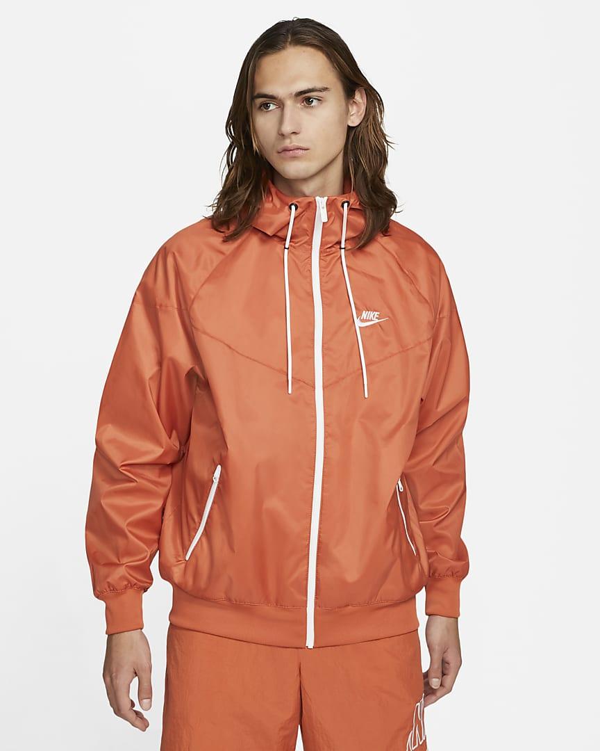 Nike Sportswear Windrunner Men\'s Hooded Jacket Light Sienna/White