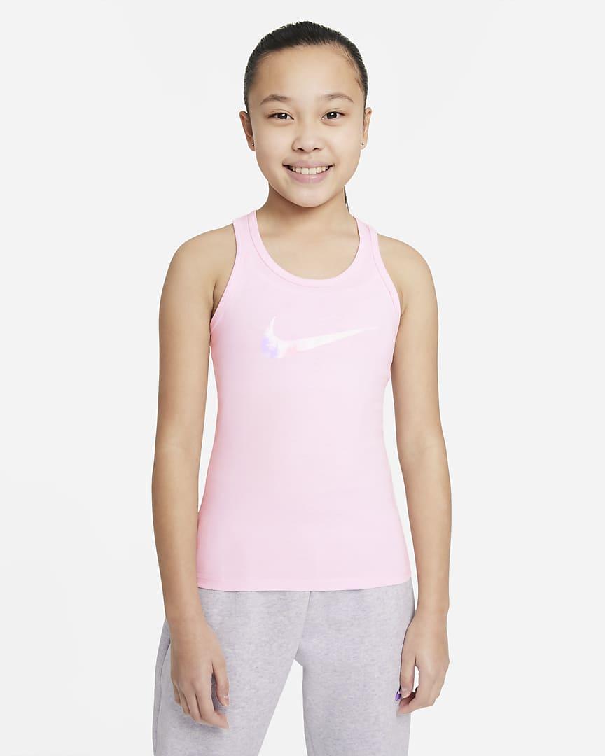 Nike Sportswear Big Kids\' (Girls\') Tank Top Pink Foam