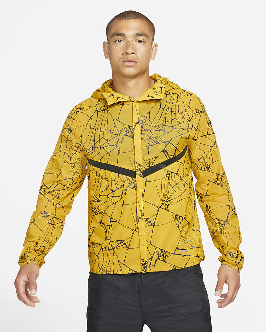 Nike Run Division Pinnacle Men\'s Running Jacket Dark Citron/Dark Citron