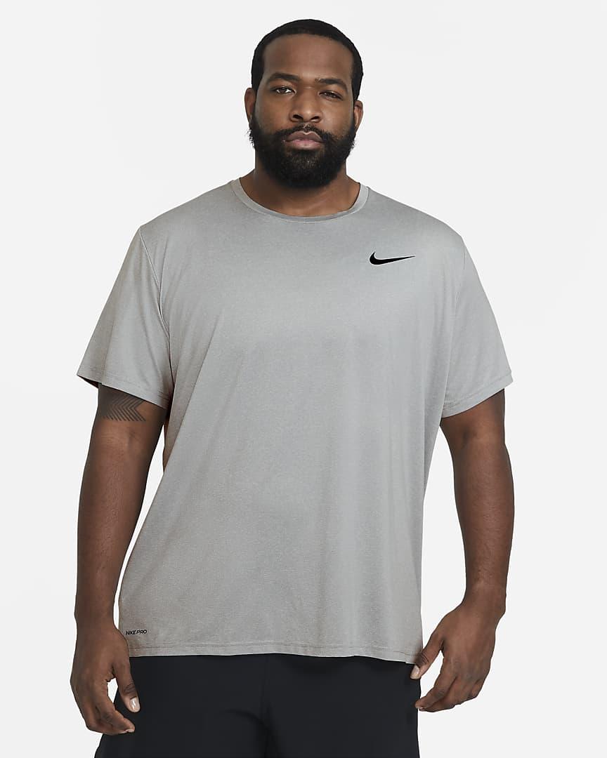 Nike Pro Dri-FIT Men\'s Short-Sleeve Top Particle Grey/Grey Fog/Heather/Black