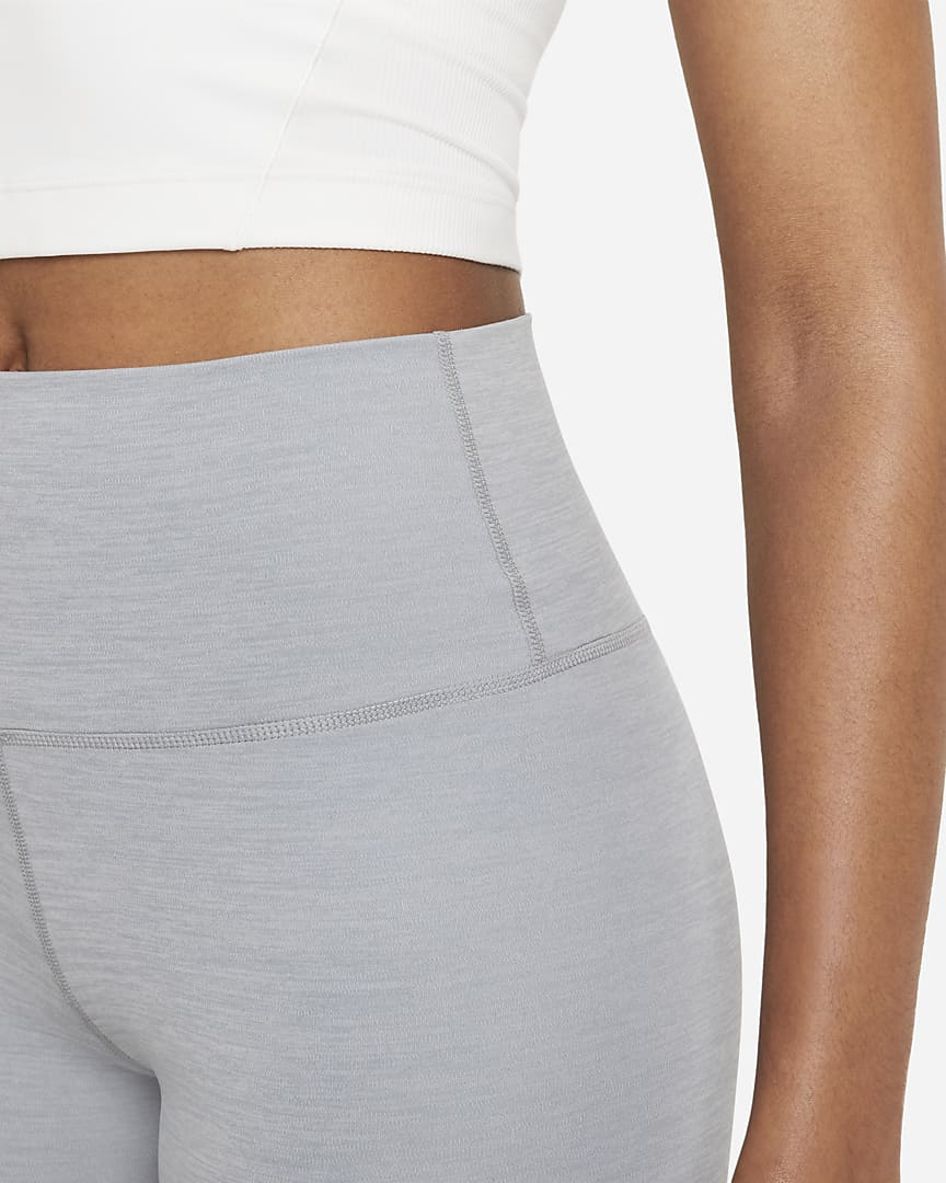 Nike Yoga Luxe Women\'s Shorts Particle Grey/Heather/Platinum Tint