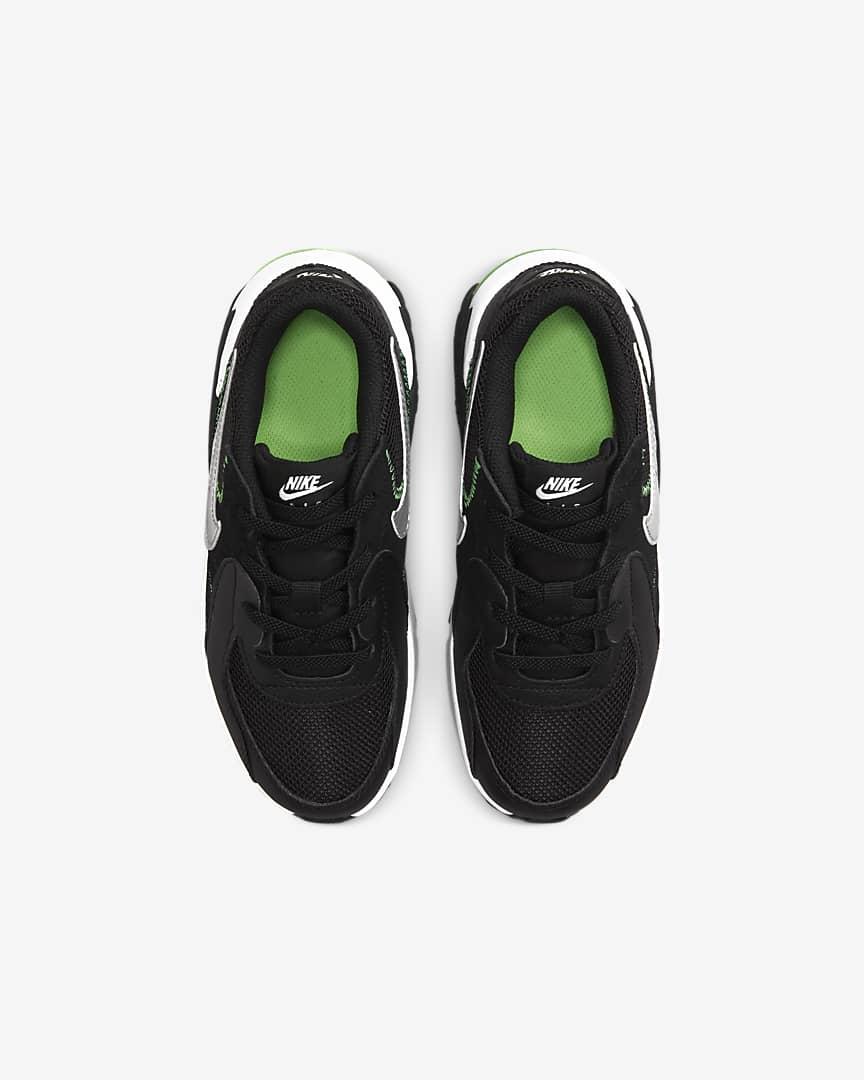Nike Air Max Excee Little Kids' Shoes Black/Dark Smoke Grey/Green Strike/Chrome