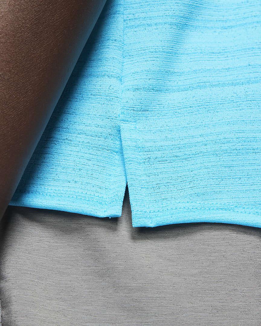 Nike Dri-FIT Miler Men\'s Running Tank Chlorine Blue