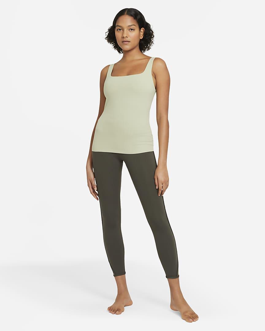 Nike Yoga Luxe Women\'s Shelf-Bra Tank Celadon/Olive Aura