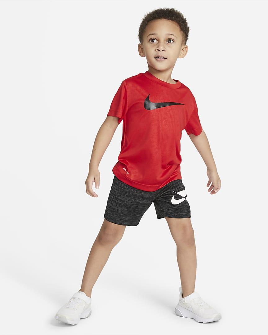 Nike Dri-FIT Toddler Printed T-Shirt University Red