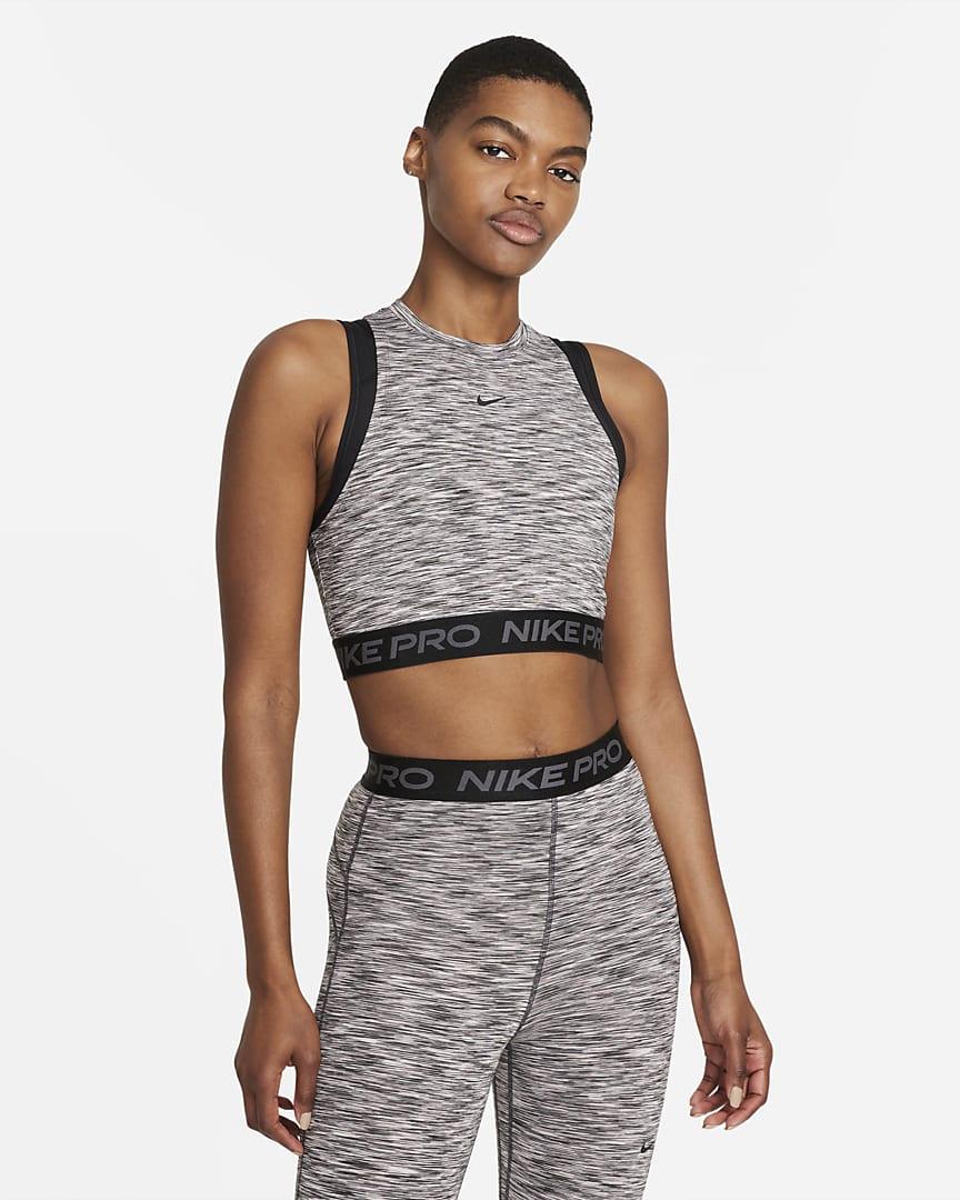 Nike Pro Women\'s Space-Dye Tank Black/Black/Black