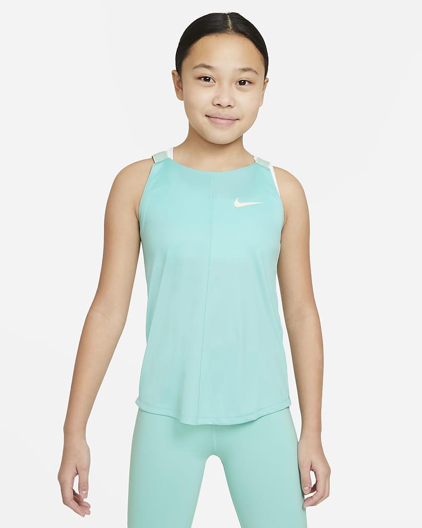 Nike Dri-FIT Big Kids\' (Girls\') Training Tank Tropical Twist/Coconut Milk