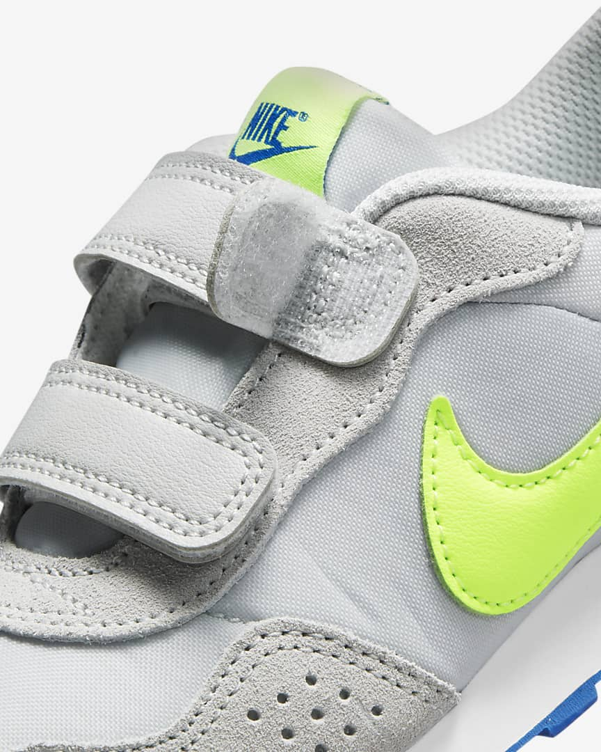 Nike MD Valiant Little Kids\' Shoes Grey Fog/Game Royal/White/Volt