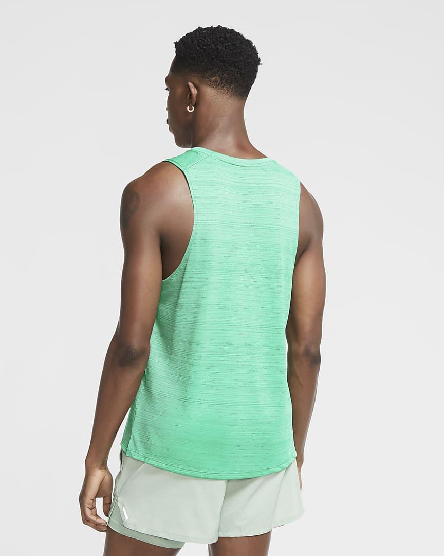 Nike Dri-FIT Miler Men\'s Running Tank Green Glow