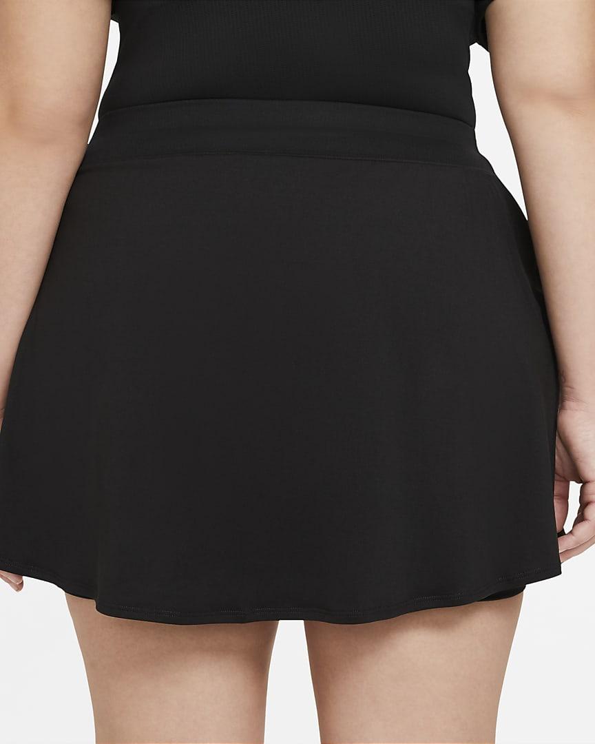 NikeCourt Victory Women\'s Tennis Skirt (Plus Size) Black/White