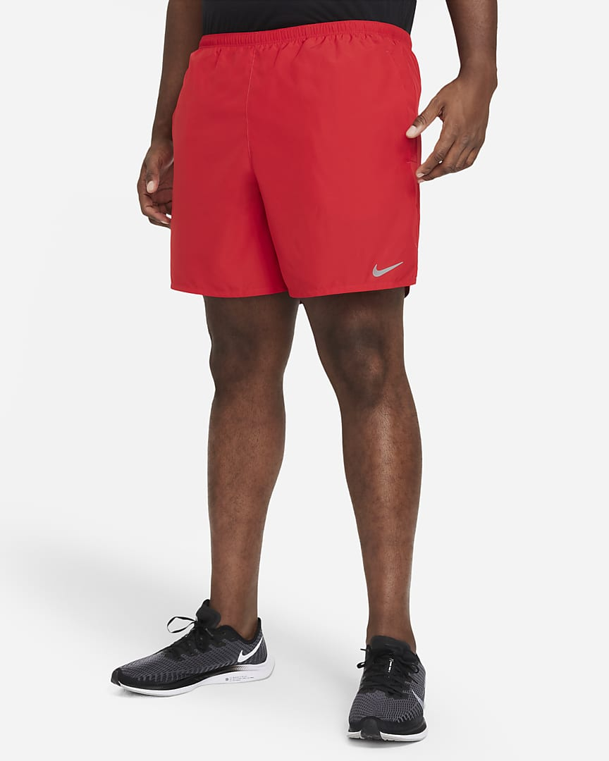 Nike Challenger Men\'s Brief-Lined Running Shorts University Red