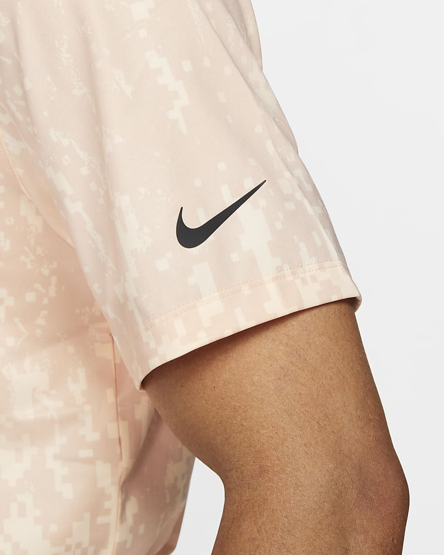 Nike Dri-FIT Vapor Men\'s Graphic Golf Polo Arctic Orange/Black