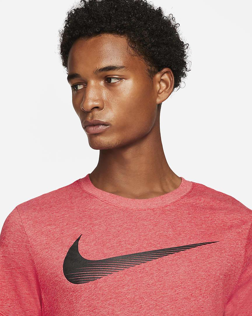 Nike Dri-FIT Men's Swoosh Training T-Shirt Light University Red Heather