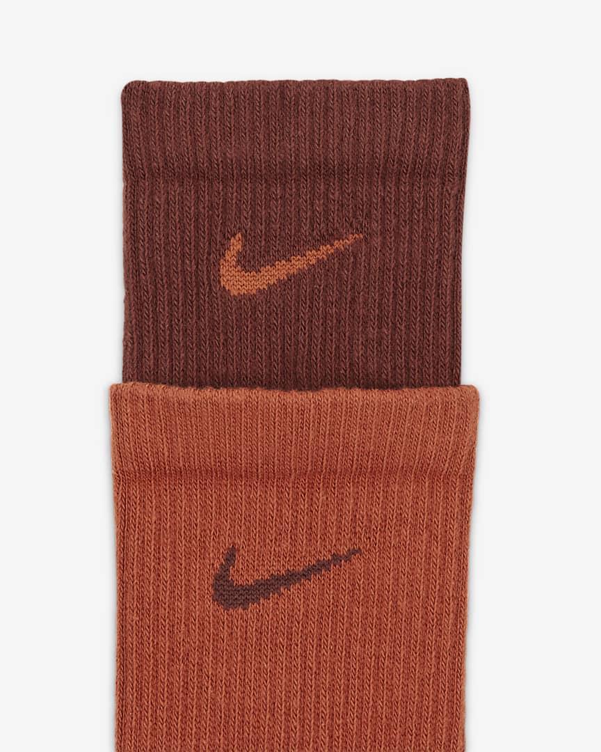 Nike Everyday Plus Cushioned Training Crew Socks Bronze Eclipse/Dark Russet/Dark Russet