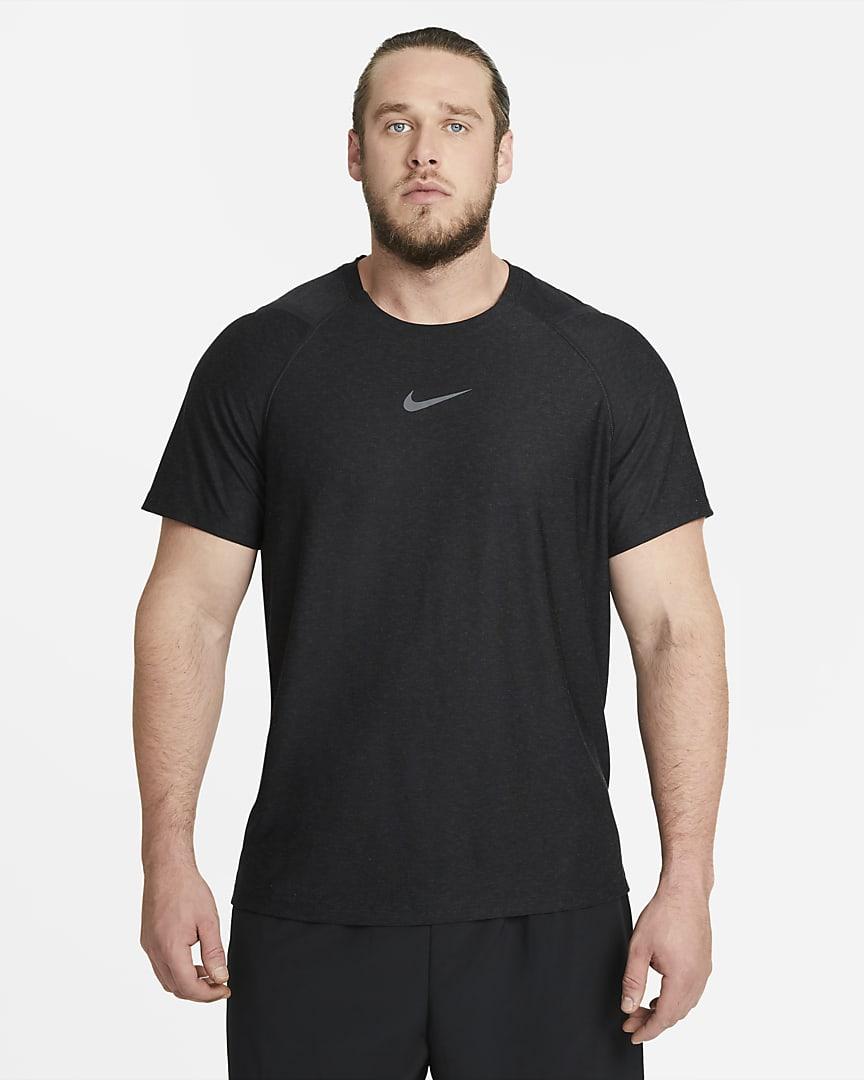 Nike Pro Men\'s Short-Sleeve Top Black/Heather/Iron Grey