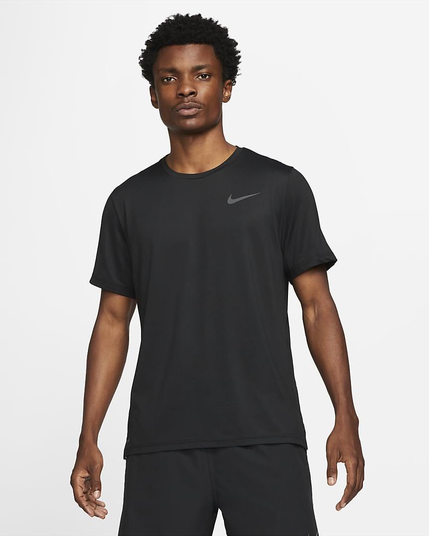 Nike Pro Dri-FIT Men\'s Short-Sleeve Top Black/Dark Grey
