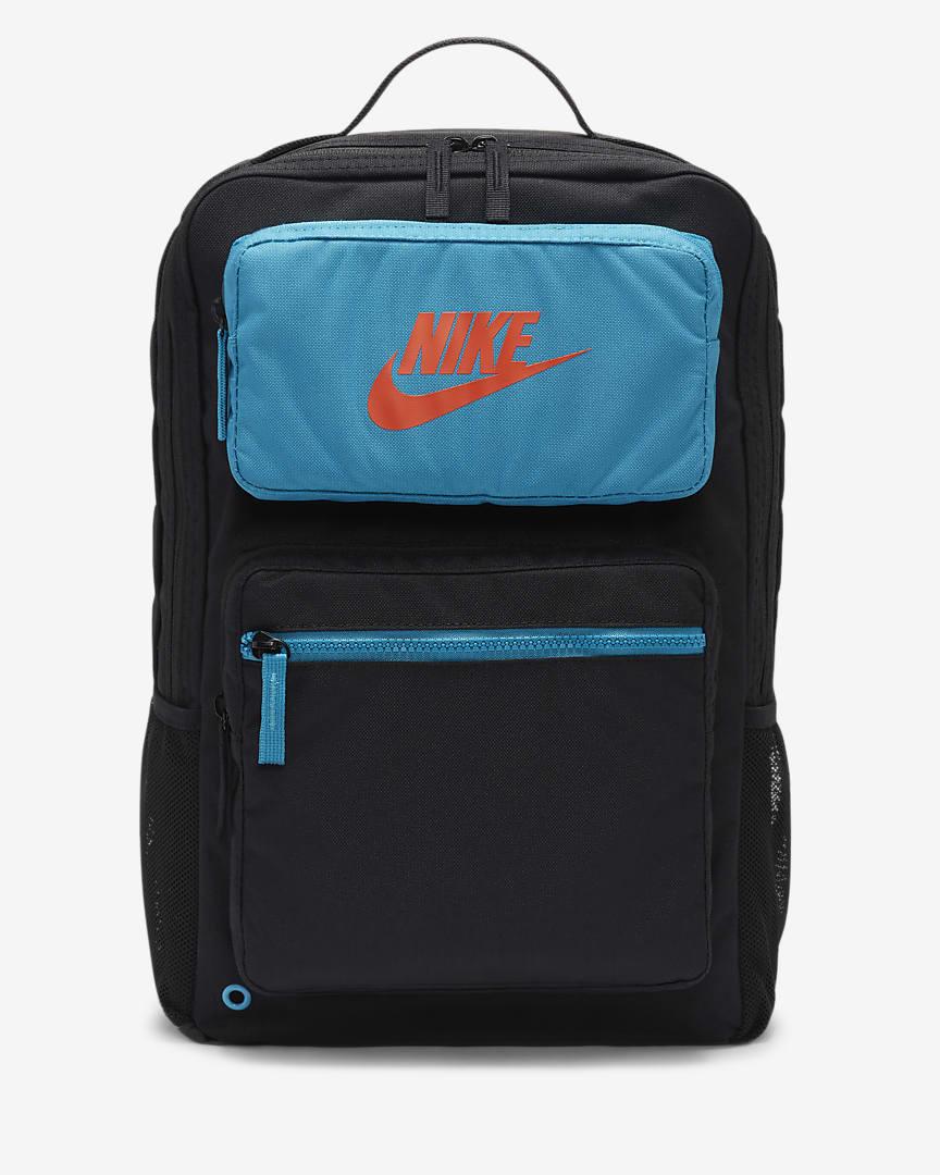 Nike Future Pro Kids\' Backpack Black/Cyber Teal/Orange