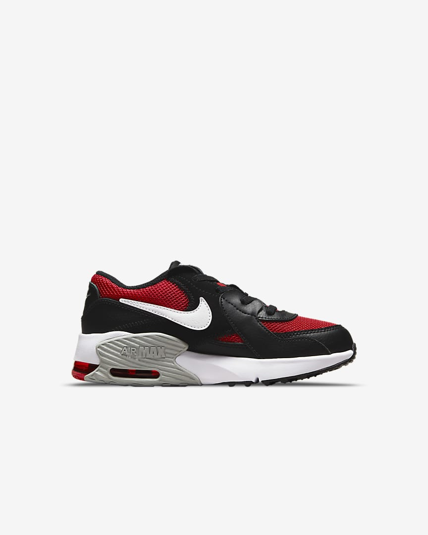 Nike Air Max Excee Little Kids' Shoes University Red/Black/Light Smoke Grey/White