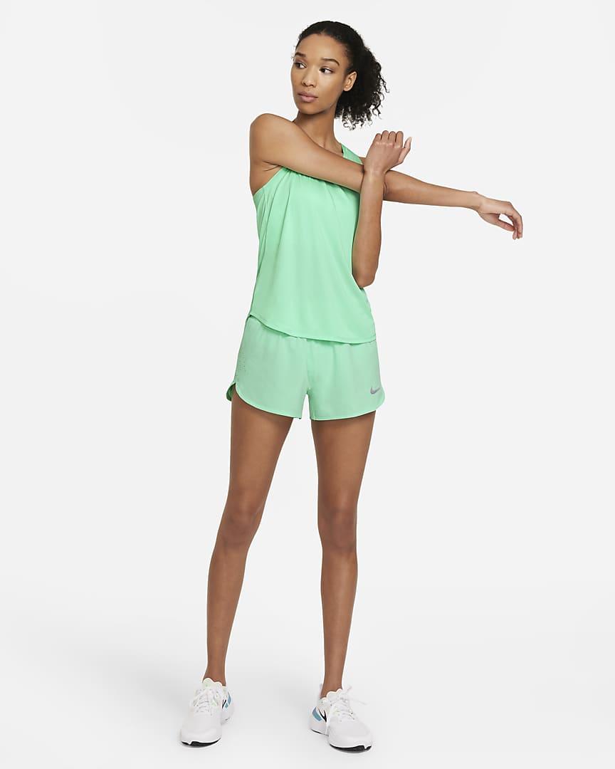 Nike Eclipse Women\'s Running Shorts Green Glow