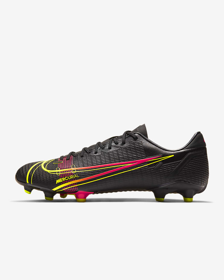 Nike Mercurial Vapor 14 Academy FG/MG Multi-Ground Soccer Cleat Black/Off Noir/Cyber