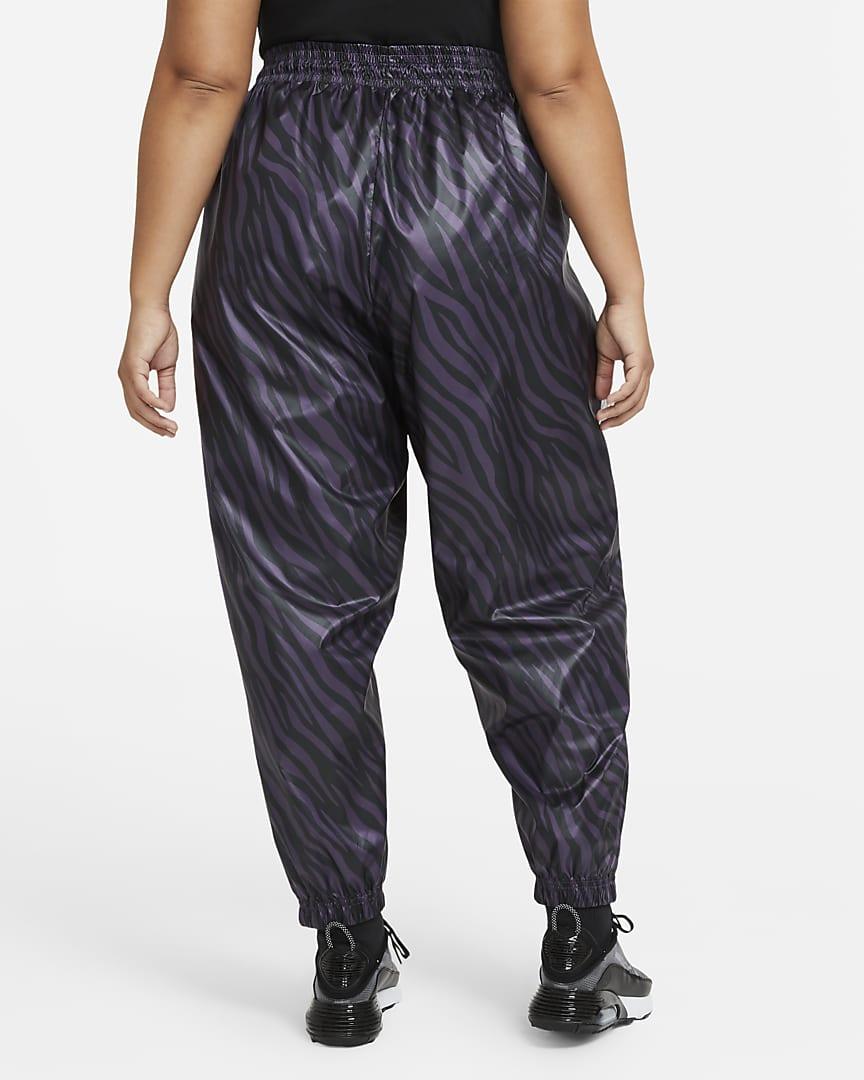 Nike Sportswear Icon Clash Women\'s Pants (Plus Size) Dark Raisin/Bright Mango