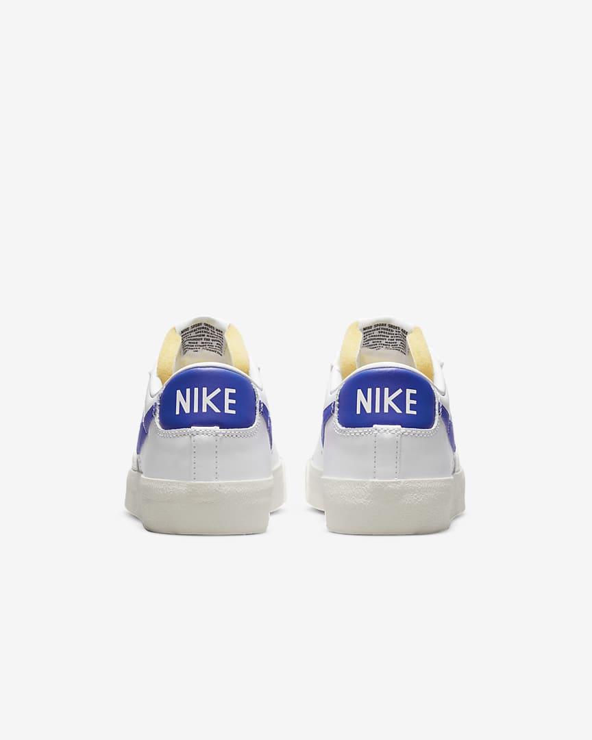 Nike Blazer Low \'77 Vintage Men\'s Shoes White/White/White/Hyper Royal