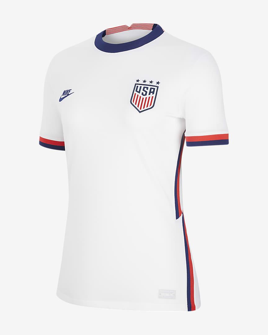 U.S. 2020 Stadium Home (4-Star) Women\'s Soccer Jersey White/Loyal Blue