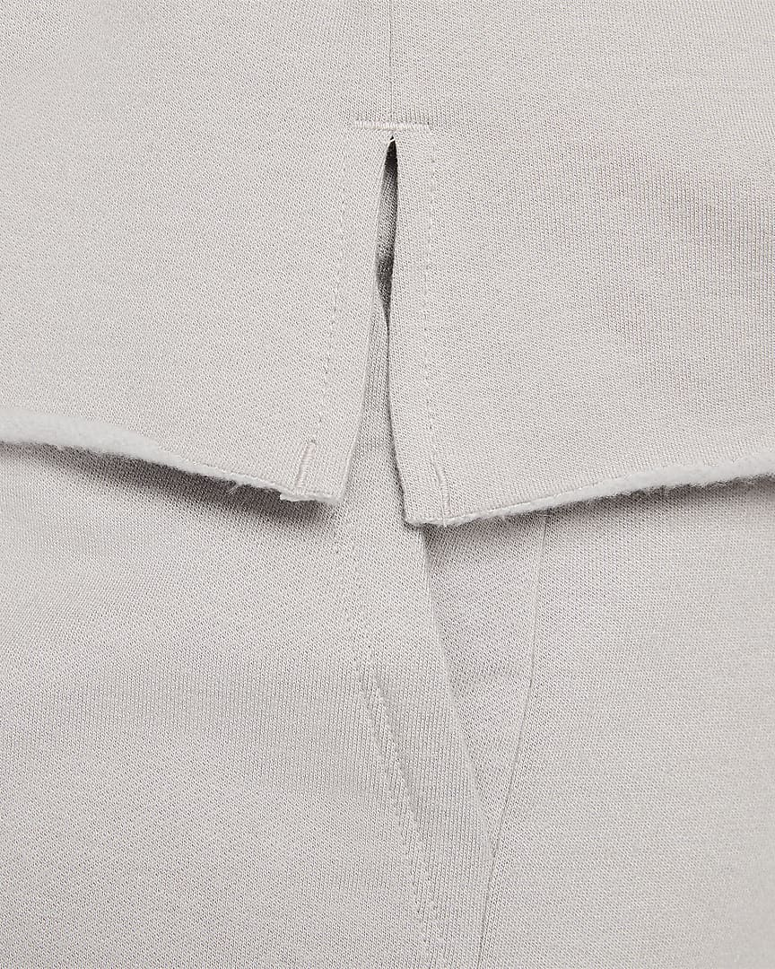 Nike Yoga Luxe Women\'s Fleece V-Neck Top (Plus Size) College Grey/Platinum Tint