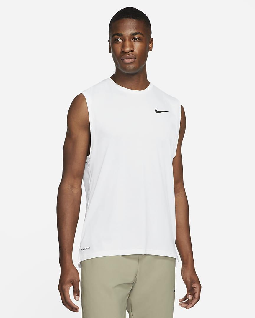 Nike Pro Dri-FIT Men\'s Tank White/Black